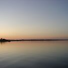 The Lake at Sunset by Diane Petker