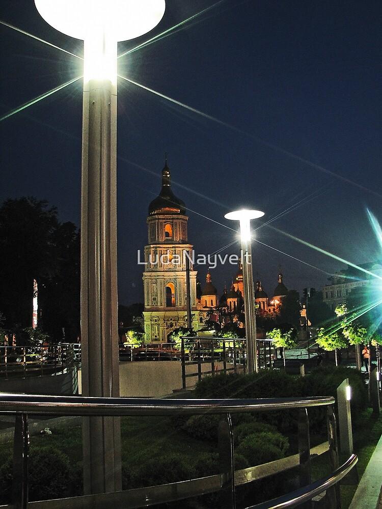 Saint Sophia Cathedral at Night by LudaNayvelt