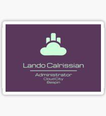 Lando Calrissian - Star Wars Sticker