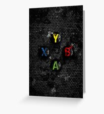 Xbox buttons splatter painting Greeting Card