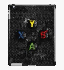 Xbox buttons splatter painting iPad Case/Skin