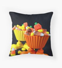 Corny Candy Throw Pillow