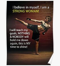 Strong Woman - Martial Arts Inspiration Poster
