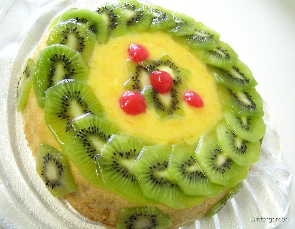 Orange curd kiwi fruit cake by wintergarden
