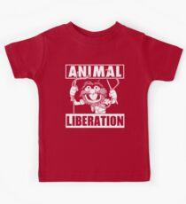 Animal Liberation - funny (red) Kids Tee