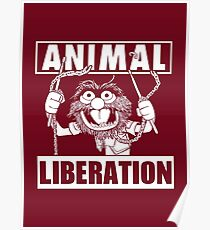 Animal Liberation - funny (red) Poster