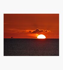 When the summer sun rose from the Baltic Sea Photographic Print