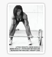 Weight Lifting Infographic For Women Sticker