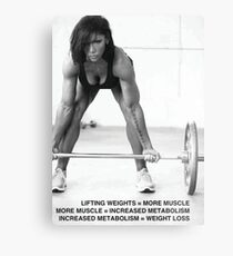 Weight Lifting Infographic For Women Metal Print