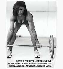 Weight Lifting Infographic For Women Poster