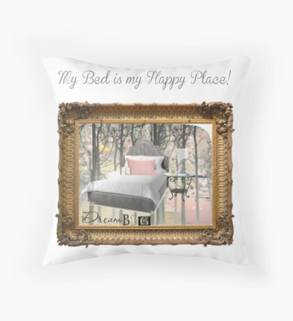My Happy Place! Throw Pillow
