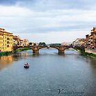 Bridges over the Arno -  Florence - Italy by Yannik Hay