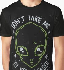 The Flash (Cisco's shirt) - Don't Take Me To Your Leader Graphic T-Shirt