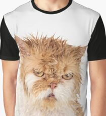 Angry Cat with wet spiky fur Graphic T-Shirt