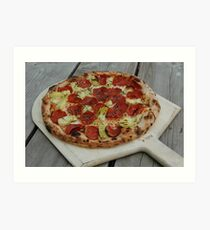 Artichoke Pizza Art Print