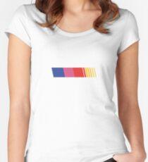 Frank Ocean Racing Stripe Nacar  Blonde Women's Fitted Scoop T-Shirt