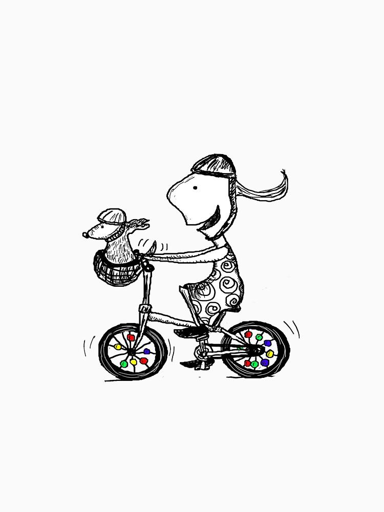 Girl on bike by LoobyLu