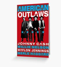American Outlaws Greeting Card
