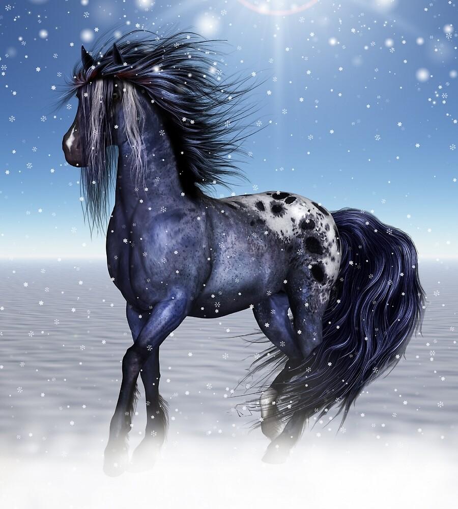 Fantasy Snow Horse by dorcas13