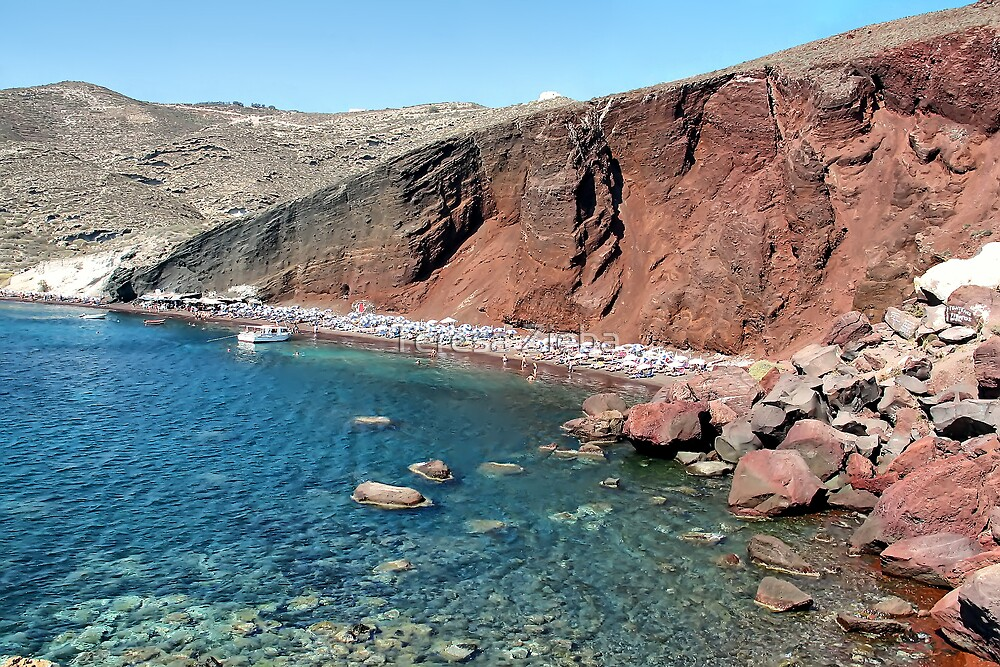 Red Beach, Santorini, Greece by Teresa Zieba