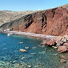 Red Beach, Santorini, Greece by Teresa Zieba