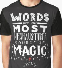 JK Rowling Magic Quote Graphic T-Shirt