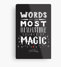 JK Rowling Magic Quote Metal Print