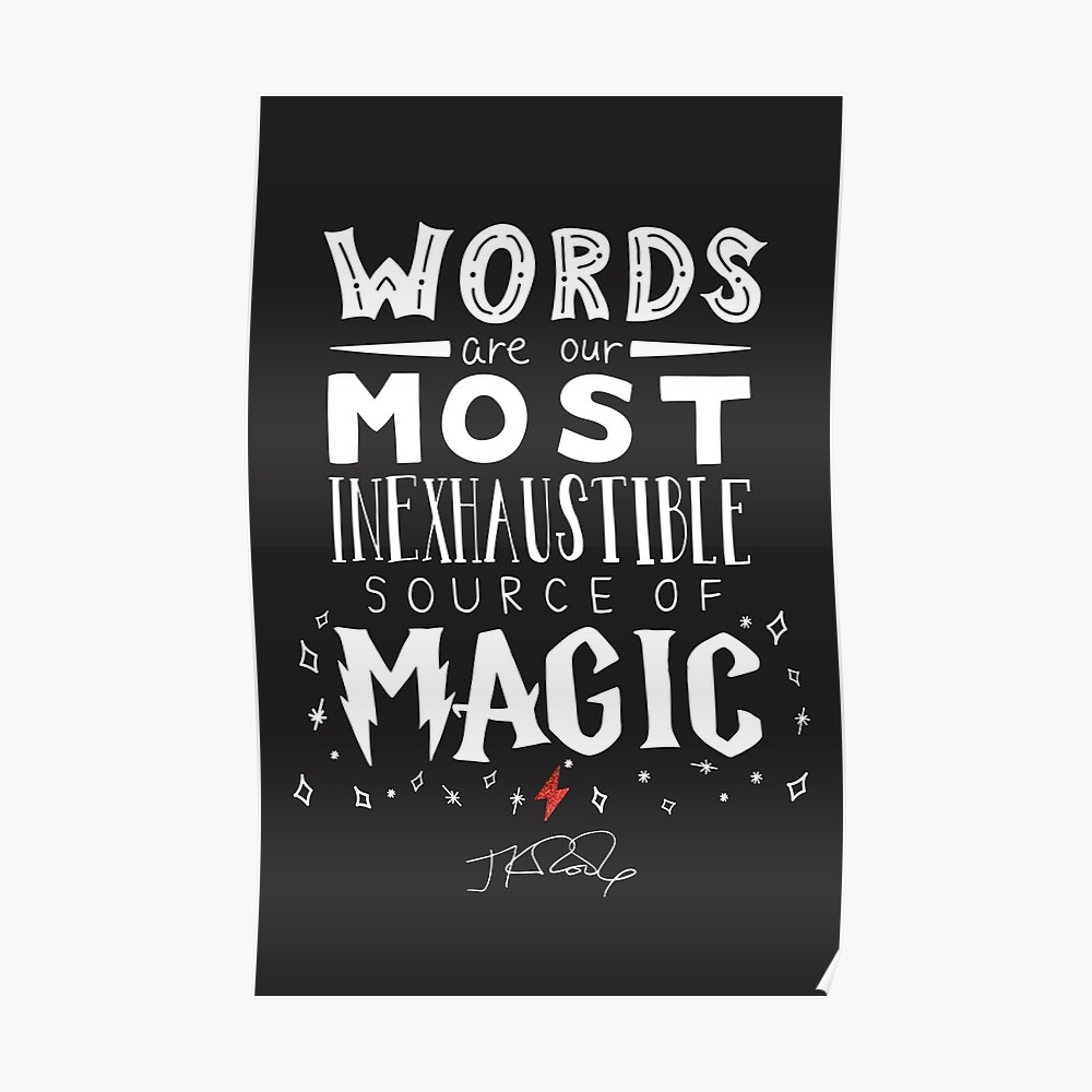 JK Rowling Magic Quote Póster