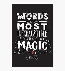 JK Rowling Magic Quote Photographic Print