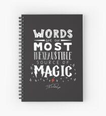 Cuaderno de espiral JK Rowling Magic Quote