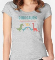 Dino Fact Women's Fitted Scoop T-Shirt