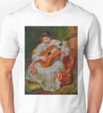 Vintage Pierre Renoir Joueuse De Guitare 1897 Fine Art Unisex T-Shirt