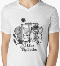 I Like Big Books Men's V-Neck T-Shirt