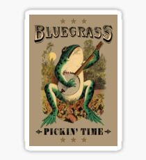 Bluegrass Pickin' Time Sticker