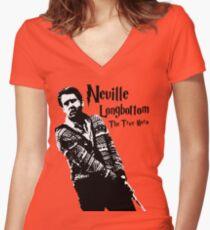 Neville Longbottom: The True Hero Women's Fitted V-Neck T-Shirt