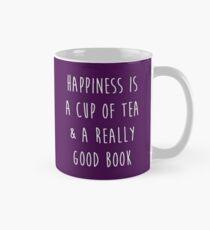 Glück ist eine Tasse Tee und ein wirklich gutes Buch Tasse (Standard)