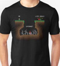 Internet VS Life goals T-Shirt