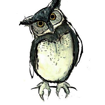 Sketchy owl by cmcewan