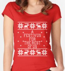 A Festivus For The Rest Of Us - Ugly Sweater - Seinfeld Women's Fitted Scoop T-Shirt