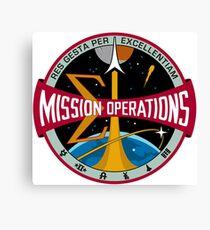 NASA Houston Mission Control Center Emblem Canvas Print
