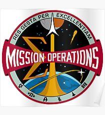 NASA Houston Mission Control Center Emblem Poster