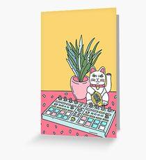 Sad cat pad Greeting Card