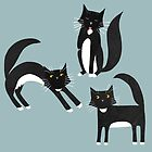 Black and White Cats by Nic Squirrell