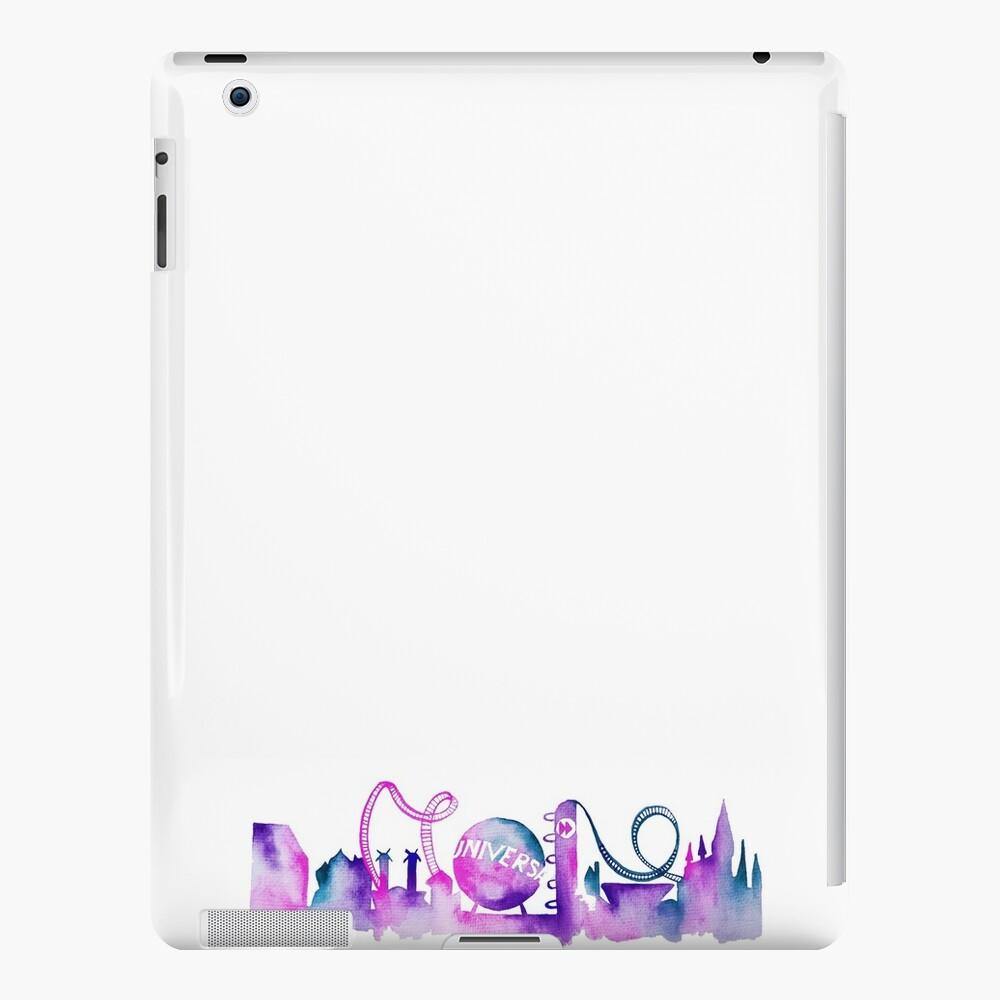 Parque temático de Orlando inspirado en la silueta del horizonte de acuarela Vinilos y fundas para iPad