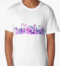 Orlando Theme Park Inspired Watercolor Skyline Silhouette Long T-Shirt