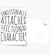 emotionally attached to fictional characters #black Postcards