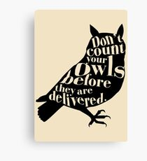 Don't Count Your Owls Before They Are Delivered Canvas Print