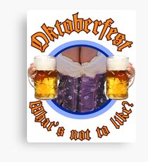 Oktoberfest Beer and Boobs Canvas Print