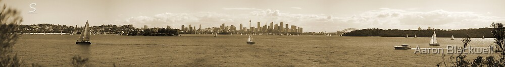 Sydney - Panoramic - Septia Touch by Aaron Blackwell