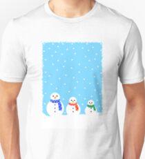 Christmas Snowmen Unisex T-Shirt